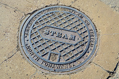 Steam, St. Louis, MO (Robby Virus) Tags: stlouis missouri mo adsco american district steam company north tonawanda manhole cover street metal heat heating system