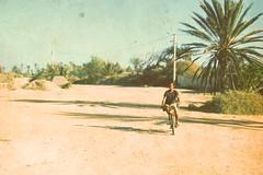 3094 (adnogstreets) Tags: midoum scooter soleil sun vélo bike tractor tracteur charette école school market marché moon lune desert hotel hostel