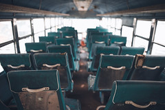 old school (polo.d) Tags: old school bus education decay abandoned car autocar drive transport seats classic highlights