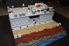 Imperial Outpost (PeachBricks) Tags: lego legos build moc starwars star wars imperial darth vader base terrain wall design technique rockwork layering plat plate