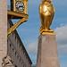 Golden Owl and Clock -  Millennium Square, Leeds