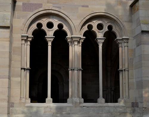 Maulbronn (Alemania). Monasterio. Iglesia. Ventanas del pórtico