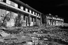 Abandoned Jail (Blurmageddon) Tags: 35mm film analogphotography adoxaph09 rodinal rolleiinfrared blackandwhite pakonf135 nexlab abandoned ir720