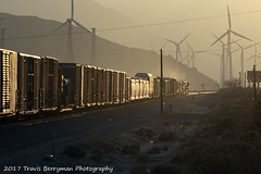 2007-02-20 UP 2260 West near West Palm Springs glint (Travis Berryman) Tags: unionpacific beaumonthill uprr upyumasub desertrailroading