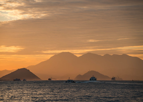 Harbor at Sunset - Hong Kong