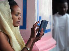 The Manic-Depressive cycles of the street photographer (ybiberman) Tags: israel jerusalem ethiopianchurch woman portrait photographer priest veil candid streetphotography smartphone camera