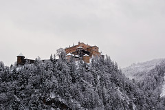 Mountain Top Throne (DILLEmma Photography) Tags: mountian castle snow winter wonderland mystic peak throne mansion fortress trees sky white landscape outdoor season