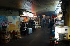 Street food (Dominic Sagar) Tags: fujifilm japan restaurant t050 t100 t200 x100s arches neon night railway sign chiyodaku tōkyōto jp