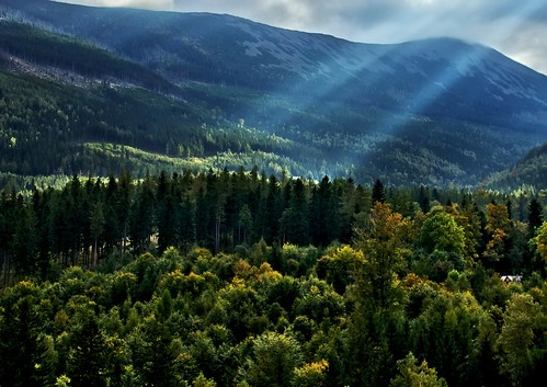 mountain above the town Karpacz