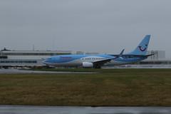 G-FDZJ wet take off. (aitch tee) Tags: cardiffairport aircraft airliner thomson boeing b737800 weather wet spray takeoff gfdzj cwlegff maesawyrcaerdydd walesuk