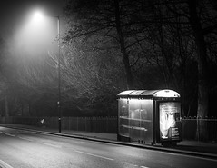 Bus Stop (karl101) Tags: sheffield fog morning early
