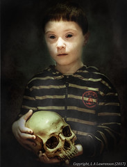 Portrait of a Vampire (Squiddy1963) Tags: photoshop portrait horror vampire gothic ghost demon skull boy child nightmare dark gimp lightroom5 sony a7 miranda 50mm f14 creative layers textures conceptual composite creepy
