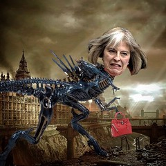 """Brexit means Brexit"" (Flamenco Sun) Tags: politics ukip tories brexiters brexit government primeminister theresamay geiger torycunt cunt authoritarian alienqueen fuckthetories fuckingwitch"