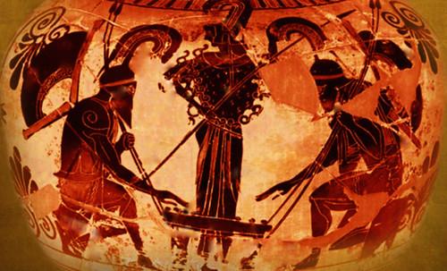 "Petteia - Ludus Latrunculorum  / Iconografía de las civilizaciones helenolatinas • <a style=""font-size:0.8em;"" href=""http://www.flickr.com/photos/30735181@N00/32481384646/"" target=""_blank"">View on Flickr</a>"