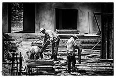 Sokağı dinliyorum - Listening to the street (omardaing) Tags: city people street black white dark work constructional labor sokak siyah beyaz çalışma emek insanlar inşaat