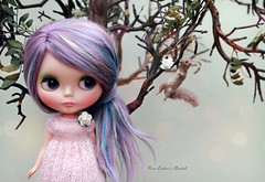 Jungle VIP (pure_embers) Tags: pure embers blythe doll dolls custom angellily pureembersbluebell bluebell neo uk girl pretty pureembers photography kenner purple lilac blue hair tree squirrel cute