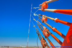 Blowin' in the Wind (elviskennedy) Tags: america anchor antenna antennatower bend bending blue bolt deadman deadmananchor deanmananchor dish elvis elviskennedy farmer field guywire hdr highdynamicrange illusion iowa kennedy lateral lean leaning leica leicacamera leicasl mast mitchell mitchellcounty morning nut optical opticalillusion orange osage rope screwanchor shear sky straininsulator television tower trielmar turbulence tv usa wate wind windshear windy wire wires wwwelviskennedycom unitedstates us