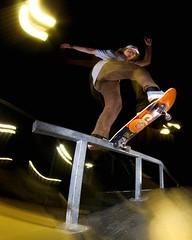 (Dustin-Bojo) Tags: blunt frontblunt fun orange night lightstreaks color skateboard skateboarding skate