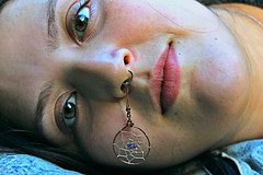 Medal (Oh-Soledad) Tags: portrait hdr face beauty beautiful friend woman girl mujer women nature jewerly septum