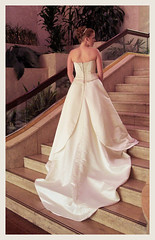 stairs (TexasValerie) Tags: wedding portrait woman white stairs austin hotel bride back texas dress interior profile lobby melody staircase marble weddingdress bridal renaissance