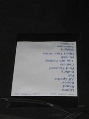 editors setlist