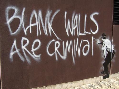 Banksy - Blank Walls are Criminal