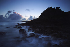 crow point (Adam Clutterbuck) Tags: ocean uk longexposure greatbritain sea seascape 20d water landscape coast twilight cornwall seascapes dusk canoneos20d coastal shore slowshutter gb samson oe scilly tresco slowshutterspeed islesofscilly scillies shorescape greengage 1in10f100v shorescapes adamclutterbuck cornishcoast showinrecentset openedition