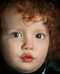 Emilique (Joshb60796) Tags: two portrait baby girl female kid emily model toddler child little curls terrible pucker