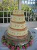 brown wedding cake photo