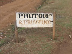 Photocopy & Printing (jenly) Tags: sign kenya peacecorps silibwet