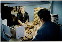 Cigar workers sorting