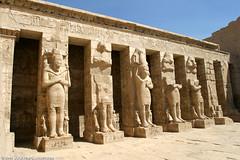 EG05 3750 Ramessid Columns, Peristyle Court, Ramesses III Mortuary Temple, Medinet Habu (Templar1307) Tags: africa travel temple ruins egypt nile pharaoh thebes heiroglyphics medinethabu mortuary rameses ramesses