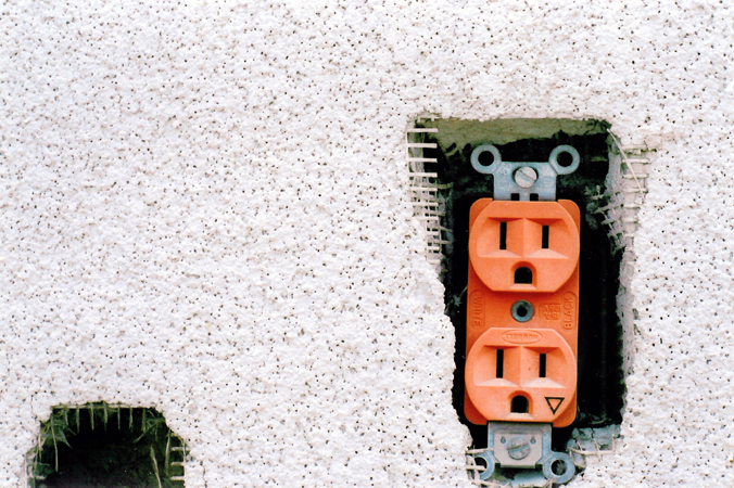 Wall outlets symbolizing creative outlets