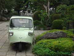 Nostalgic 懐かしい (only1tanuki) Tags: green japan tokyo midget threewheel 懐かしい sanrinsha 平成十六年十月