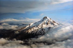 Mt. Hood from the Air (Whateverthing) Tags: mountain film clouds oregon 35mm interestingness aerial mthood canonae1