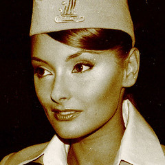 ksu (mumpasak) Tags: old portrait girl beautiful face sepia uniform stewardess perfekt strict top20fav