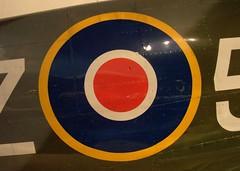 Supermarine Spitfire Mk.IX (Bluedharma) Tags: seattle logo wwii museumofflight ww2 british spitfire decal raf supermarine mkix bluedharma