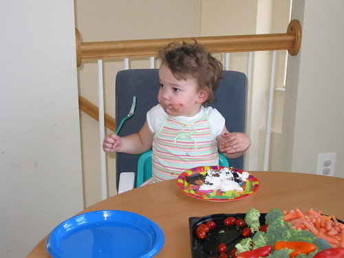 jocelyn eating birthday cake