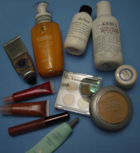 lancome makeup. Image by estherbester this is the contents of the makeup bag