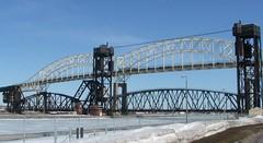 Twin bridge view (KrisEllisR) Tags: bridges soo trainbridge internationalbridge