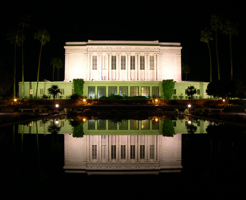 mesa, arizona temple - glass reflection