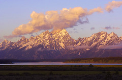 Tetons from Willow Flats (Bonnie Bowne) Tags: mountain mountains nature topv111 sunrise spectacular landscape ilovenature nationalpark wyoming grandtetons tetons grandteton lovenature grandtetonnationalpark naturelover