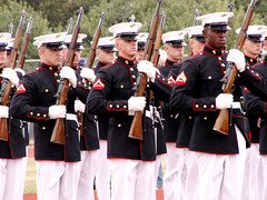 The Marine Corps Silent Drill Team (Sister72) Tags: usa newjersey fantastic marine nj rifles menatwork professional gloves marines uniforms monmouthcounty sister72 drillteam marinecorps drill msh medals excellence unitedstatesmarinecorps coltsneck monmouthcountynj silentdrillteam bayonets april12006 coltsneckhighschool servicetoamericaday marinecorpssilentdrillteam freeholdregionalhighschooldistrict navyjrotcacademy meninuniforms msh0107 msh010716
