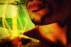 whisper (hobbes313) Tags: art composition photoshop body narcissism lips language shoulder