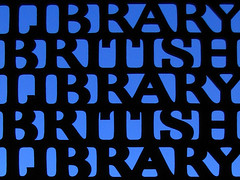 Here There Be Books (ElectricSprout) Tags: uk england london silhouette sign fermidaily wednesday gates library entrance week36 britishlibrary score405