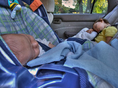 sleeping in car [HDR] (earthsound) Tags: sleeping car kids children babies elias driveway toyota asleep passedout hdr highdynamicrange oblivious hdri fujifinepix toyotacorolla miriamgrace photomatix s9000 tonemapped finepixs9000 fujifinepixs9000 highdynamicrangeimaging hdrimaging hdrimagery headsabouttofalloff autobracketed localcontrast