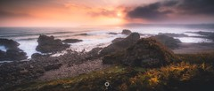 Waves of Light (Augmented Reality Images (Getty Contributor)) Tags: canon clouds coastline cullen hdr landscape leefilters longexposure morayshire panorama rocks scotland seascape sunrise water waves