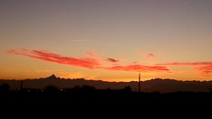 Monviso &friends to the sunset (only_sepp (off for a while)) Tags: monviso monti alpi tramonto sera autunno rosso sky clouds redclouds cielo allaperto calma paesaggio campo