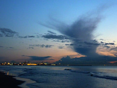 strange cloud above livorno during today sunset (paolo brunetti) Tags: sunset sea sky cloud strange port tramonto mare nuvola blu porto cielo livorno