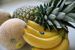 Fresh fruit (Bruno Girin) Tags: fruit fresh melon bananas pineapple fairtrade cantaloupe